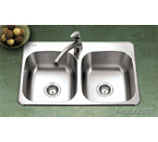 Houzer 3120-8BS Topmount 50/50 Double Bowl Stainless Steel Sink