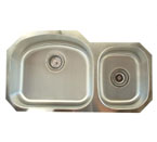 Alpha International U-321S 70/30 Undermount Double Bowl Stainless Steel Sink