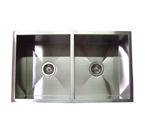 32� Stainless Steel Zero Radius Double Bowl Undermount Kitchen Sink WC12D3219