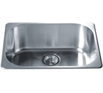 Dawn 3233 Topmount Single Bowl Stainless Steel Sink