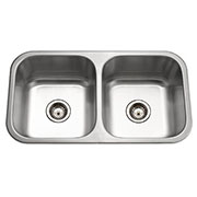 Houzer Medallion Classic Series Undermount Stainless Steel 50/50 Double Bowl Kitchen Sink MD-3109-1
