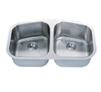 C-Tech-I Linea Imperiale Lusitania LI-200-M Double Bowl Stainless Steel Sink