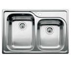 "Blanco Supreme Drop-In 33"" Double Bowl Sink - 8"" & 7"" Deep"
