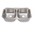 Suneli SM502-16 16 Gauge Undermount Double Bowl Stainless Steel Sink