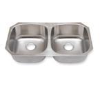 Suneli SM502-16 16 Gauge Undermount Double Bowl Stainless Steel Sink