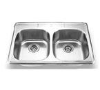 Suneli SM560-820C Topmount Double Bowl Stainless Steel Sink