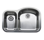 "Blanco Wave Plus MicroEdge Inset/Flushmount 1-1/2"" Reverse Double Bowl Sink"