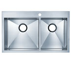 Blanco Precision MicroEdge Inset/Flushmount 1-3/4 Double Bowl Sink With Ledge - 1 Hole