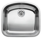 "Blanco Wave MicroEdge Undermount 22-7/16"" Inset/Flushmount Single Bowl Sink"