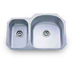 Pelican PL-807R 16 Gauge Double Bowl Stainless Steel Sink