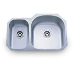 Pelican PL-807R 16 Gauge Double Bowl Stainless Steel Sink