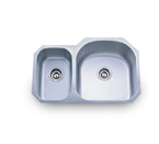 Pelican PL-807R 18 Gauge Double Bowl Stainless Steel Sink
