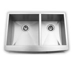 Suneli AP3320BL Double Bowl Apron Stainless Steel Sink