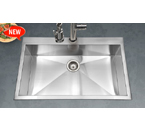 Houzer Bellus Zero radius Topmount Large Single Bowl BLS-3322