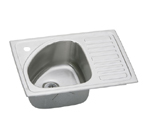 Elkay Lustertone BILGR2115L Topmount Single Bowl Stainless Steel Sink