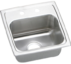 Elkay Gourmet Lustertone BLRQ1516 Topmount Single Bowl Stainless Steel Sink