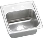 Elkay Gourmet Lustertone BLR15161 Topmount Single Bowl Stainless Steel Sink