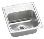 Elkay Gourmet Lustertone BLRQ152 Topmount Single Bowl Stainless Steel Sink