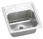 Elkay Gourmet Lustertone BLRQ15MR2 Topmount Single Bowl Stainless Steel Sink
