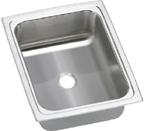 Elkay Gourmet Pacemaker BPSFRQ1215 Topmount Single Bowl Stainless Steel Sink