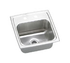 Elkay Gourmet Pacemaker BPSRQ15 Topmount Single Bowl Stainless Steel Sink