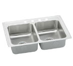 Elkay Gourmet Pacemaker BPSRQ2317 Topmount Double Bowl Stainless Steel Sink