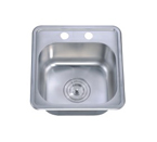 Dawn BST1515 Topmount Single Bowl with Faucet Holes Stainless Steel Sink