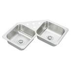 Elkay Gourmet Celebrity CCR3232 Topmount Corner Double Bowl Stainless Steel Sink
