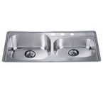 Dawn CH355 Topmount Double Bowl Stainless Steel Sink