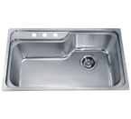 Dawn CH368 Topmount Single Bowl with Faucet Holes Stainless Steel Sink