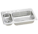 Elkay Gourmet Celebrity CMR3322 Topmount Double Bowl Stainless Steel Sink