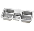 Elkay Gourmet Celebrity CMR4322 Topmount Triple Bowl Stainless Steel Sink