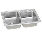 Elkay Gourmet Celebrity CR250 Topmount Double Bowl Stainless Steel Sink