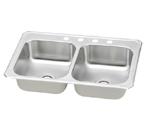 Elkay Gourmet Celebrity CR3321 Topmount Double Bowl Stainless Steel Sink