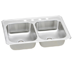 Elkay Gourmet Celebrity CR4322 Topmount Double Bowl Stainless Steel Sink