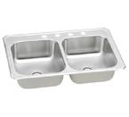 Elkay Gourmet Celebrity CR4322 Topmount Double Bowl Stainless Steel Sink