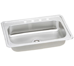 Elkay 33x22 Celebrity Topmount Stainless Steel Single Bowl Sink CRS3322