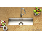 Houzer Contempo Trough Zero Radius Undermount Trough Bar/Prep Sink CTB-2385