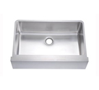 Dawn DAF3320 Undermount 16 Gauge Single Bowl Flat Apron Front Stainless Steel Sink
