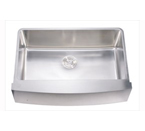 Dawn DAF3320C Undermount Single Bowl With Curved Apron Front Stainless Steel Sink