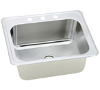 Elkay Celebrity 25x22x10 Topmount Single Bowl Stainless Steel Sink DCR2522