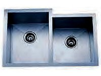 Delta Double Bowl Undermount Stainless Steel Sink 50x50 Signature Series 16 Gauge DL-3320