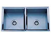 Delta Double Bowl Undermount Stainless Steel Sink 50x50 Signature Series 16 Gauge DL-HA202