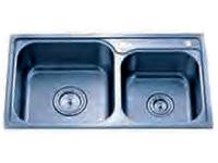 Delta Double Bowl Top Mount Stainless Steel Sink 60x40 20 Gauge DL520