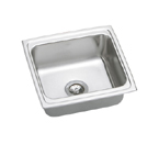 Elkay Gourmet Lustertone DLFRQ191810 Topmount Single Bowl Stainless Steel Sink