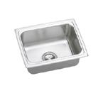 Elkay Gourmet Lustertone DLFRQ2519 Topmount Single Bowl Stainless Steel Sink