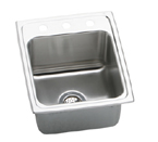 Elkay Gourmet Lustertone DLRQ1720 Topmount Single Bowl Stainless Steel Sink