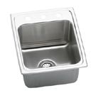 Elkay Gourmet Lustertone DLRQ1722 Topmount Single Bowl Stainless Steel Sink
