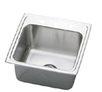 Elkay Gourmet Lustertone DLRQ1716 Topmount Single Bowl Stainless Steel Sink