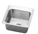Elkay Gourmet Lustertone DLRQ1919 Topmount Single Bowl Stainless Steel Sink